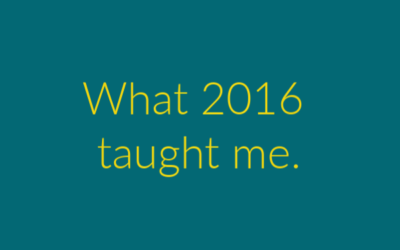 2016 – What I learned